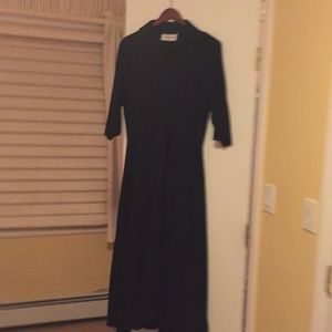 Vintage Black Shirtwaist Dress from Barney's NYC